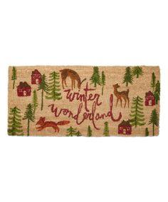 Loving this 40'' 'Winter Wonderland' Estate Doormat on #zulily! #zulilyfinds