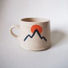 Ceramic mug - handmade mugs Pottery Designs, Mug Designs, Pottery Mugs, Ceramic Pottery, Painted Pottery, Thrown Pottery, Slab Pottery, Pottery Bowls, Ceramic Painting