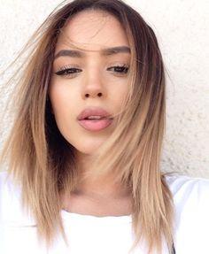 natural sweet makeup and creamy hair