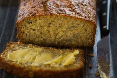 Coconana Bread :: This is one delicious loaf that everyone will love. Its so easy to make mash bananas and mix all ingredients together thats it! Perfect for the kids to make. This loaf is sweetened with banana and honey. With no refined sugar its Sugar Free Recipes, Sweet Recipes, Bread Recipes, Baking Recipes, Baking Ideas, Lunch Recipes, Kolaci I Torte, Gluten Free Banana, Paleo Dessert