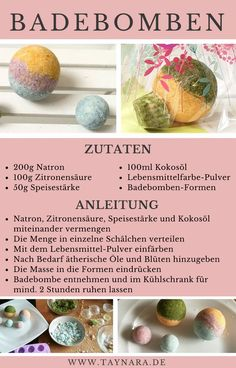 Homemade bath bombs are a perfect gift for Easter. This little treat is quickly prepared and if they are beautifully packaged, they are excellent for giving away. With Folia, the DIY bath bombs are the perfect gift idea! Pop Up Karten, Homemade Bath Bombs, Nails Polish, Diy Shampoo, Graduation Diy, Beauty Recipe, Diy Skin Care, Diy Birthday, Blog