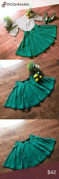 Anthropologie Maeve Green Skirt Worn ONCE. In great condition. Matching Urban Outfitters blouse is also for sale. Please check out my closet 🤗 Anthropologie Skirts