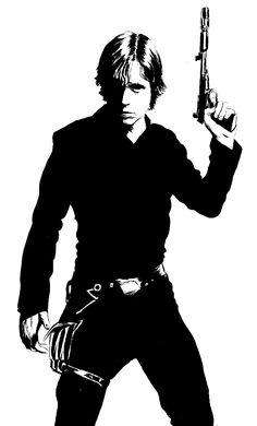 Luke Skywalker Stencil