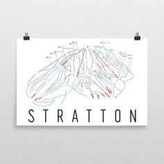 Stratton Ski Map Art, Trail Map, Print, Poster From $39.99 - ModernMapArt