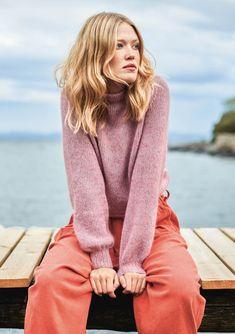 Billedresultat for basic genser sandnes Linnet, Turtleneck, Knitwear, Knitting Patterns, Knit Crochet, Pullover, Sweaters, Outfits, Clothes