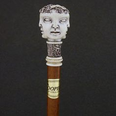 Four Faces Knob Walking Stick Walking Sticks And Canes, Walking Canes, Custom Canes, Cane Stick, Guy Stuff, Carved Wood, Swords, Wood Carving, Cannes