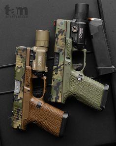 Name a better duo. FDE and BFG. // Glock Mods Tactical Pistol, Tactical Gear, Weapons Guns, Guns And Ammo, Glock Mods, Tactical Accessories, Custom Guns, Military Guns, Hunting Rifles