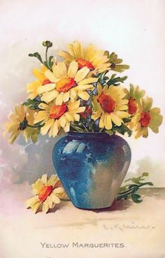 floralart.quenalbertini: Yellow Marguerites by Catherine Klein | facilisimo