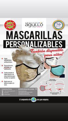 MASCARILLAS PERSONALIZABLES😷 Tejido Microfresh Antibacteriano🦠y Semi Neopreno Hidrofugado✅ Full Print-Óptimo acople a la nariz🔝 Pandora, Tejidos