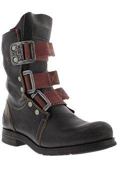 Womens fly london stif brown leather strap military ladies ankle boots size  3-8   Ladies ankle boots, Fly london and Brown leather