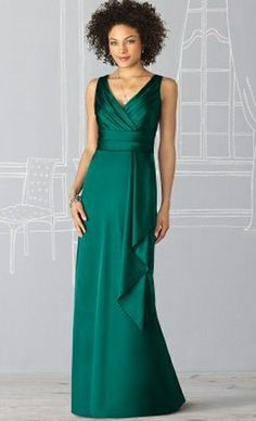 After Six Strapless V Neck Long Bridesmaid Dress 6625 by Dessy at frenchnovelty.com