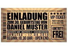 vip-einladungskarten-party-originelle-einladung-ticket, Einladungsentwurf