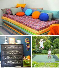 Like the mattress idea for kids/teens room