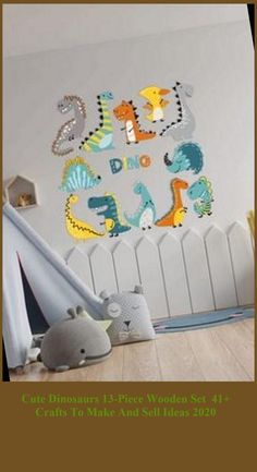* cute dinosaurs 13-piece wooden set decor * The set consists of 13 pieces as a wood * It is manufactured with special painting technology on wood MDF * It does not contain harmful substances * You can use it safely * Simple (not a sticker or paper printing) It is 3 mm MDF wood * The products are ready to double It is shipped with sided tape and does not require mounting material !!! * Product sizes vary between 25 cm and 15 cm * It covers an ave crafts to make and sell ideas Cute Dino Teenage Girl Gifts Christmas, Christmas Crafts For Toddlers, Toddler Crafts, Holiday Crafts, Christmas Aesthetic Wallpaper, Christmas Wallpaper, Christmas Gift Baskets, Christmas Tree Decorations, Christmas Gifts