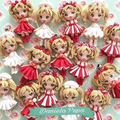 Polymer Clay Figures, Cute Polymer Clay, Polymer Clay Dolls, Cute Clay, Polymer Clay Charms, Handmade Polymer Clay, Polymer Clay Princess, Diy Christmas Decorations Easy, Anime Dolls