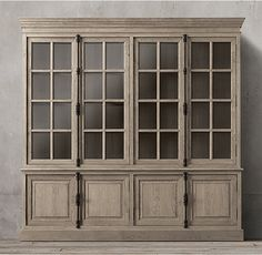 French Casement 4-Door Sideboard & Hutch