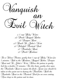 Vanquish an Evil Witch