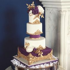 Purple and Gold Rococo Cake by Keiron George Cake Design  - http://cakesdecor.com/cakes/213060-purple-and-gold-rococo-cake