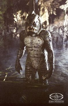 "Tom Woodruff Jr. pays homage to the Black Lagoon's ""Creature"" in the Gillman Monster Suit."