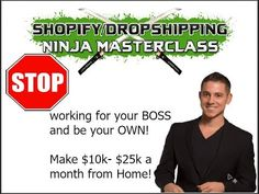 Shopify Ninja Webinar - How to Quit Your Job and Travel the World Earning an Awesome Income! Travel Affiliate Programs, Your Boss, Quitting Your Job, Everyone Else, Separates, Master Class, Earn Money, Work On Yourself, Physics