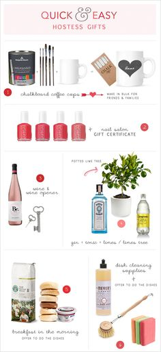 quick and easy hostess ideas | http://www.weddingchicks.com/2012/11/21/quick-and-easy-hostess-gifts/#
