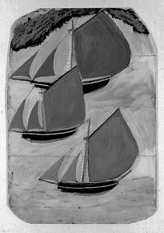 Alfred Wallis. Influential British self-taught artist.  1855-1942.  Cornwall.
