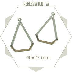 6 créoles géométriques en acier inox - pendentif couleur argent