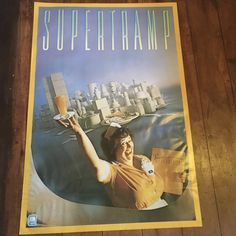 Supertramp Breakfast In America A&M Records 1979  Rare Vintage Original Music Poster by RockPostersTreasures on Etsy