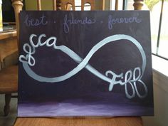Best friend painting for our dorm!
