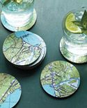 diy, map coasters - make for Dad with Cayman map!