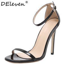الأزياء الكلاسيكية اسم العلامة التجارية زا ص اللمحة تو إبزيم فخ عالية الكعوب الصنادل حذاء امرأة أسود أبيض أحمر أحذية الزفاف مصنع us10