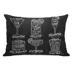 Cocktails Pillow 14x20, $40, now featured on Fab.