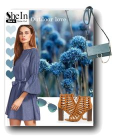 """""""Blue Dress- Shein"""" by tattooedmum ❤ liked on Polyvore featuring Chloé and Tiffany & Co."""