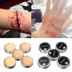 1X Halloween Modeling Fake Wound Scar Eyebrow Blocker Wax Special Effect Makeup