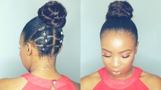 Rubber Band Updo Hairstyle on Short Natural Hair Twa [Video] - Black Hair Information # Braids afro watches Rubber Band Updo Hairstyle on Short Natural Hair Twa [Video] # short Braids with rubber bands Natural Hair Twa, Natural Hair Bun Styles, Natural Hairstyles For Kids, Curly Hair Styles, Updo Styles, Rubber Band Hairstyles, Hair Rubber Bands, Side Braid Hairstyles, African Hairstyles