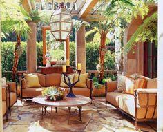 Italian style outdoor room