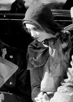 Lillian Gish on set of One Romantic Night, 1930