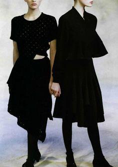 Comme des Garçons feature for L'officiel nº 737. Photo: Peter Godry, 1988.