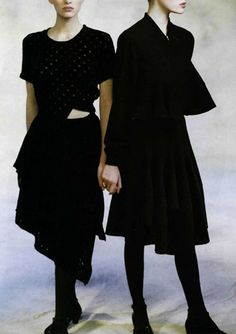 Comme des Garçons feature for L'officiel nº 737. Photo: Peter Godry, 1988.