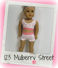 American Girl Doll GOTCHIES Pink Clouds by 123MULBERRYSTREET