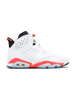 273ec56bf0fc1f Air Jordan 6 Vi Retro Mens Basketball Sneakers White Infrared Black  384664123 sz     You can get additional details at the image link.