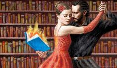 Reading and tango in a library... I'd so do that!!!!!!!!!