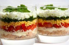 Легкий слоеный салат ПП