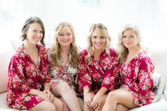 Bridesmaid floral silk robes