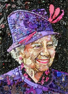 Art Made From Junk  QUEEN ELIZABETH II. (Photo by Jane Perkins/Caters News)