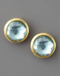 Jaipur Topaz Stud Earrings by Marco Bicego at Neiman Marcus.