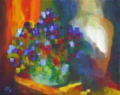 Claire Gry Peintures C'est en 1991 que Claire a commencé à presser des tubes de couleur à l'huile sur une palette et à poser celles ci sur divers types de support (bois, isorel, toile) pour fixer des impressions de repos ou de rêve que donne une nature...
