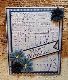 Embossed Happy Birthday Card - CropStop BlogCropStop Blog