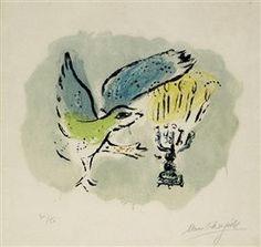 Menorah and Dove. Marc Chagall