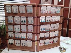 earring displays for craft shows | Birdy Chat: DIY Craft Show Earring Display